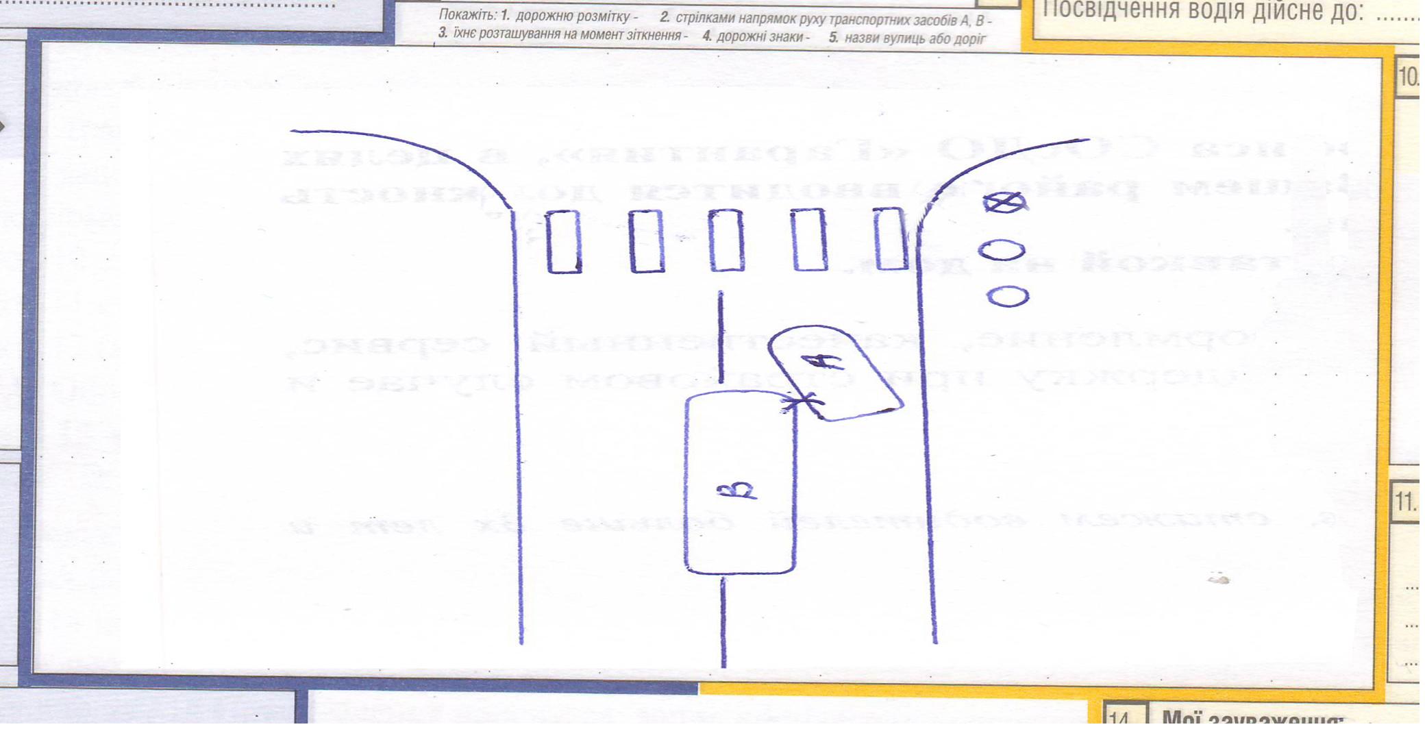 Схема дтп наезд на пешехода образец